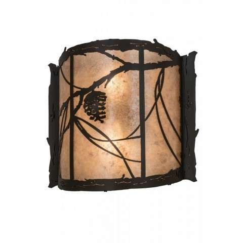"15""W Whispering Pines Wall Sconce"