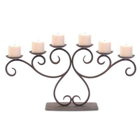 Pilgrim Lakewood Candelabra - Distressed Bronze