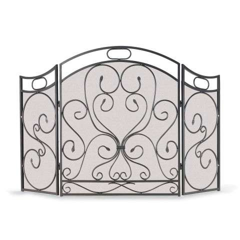 Napa Shakespeares Garden 3 Panel Folding Screen - Graphite