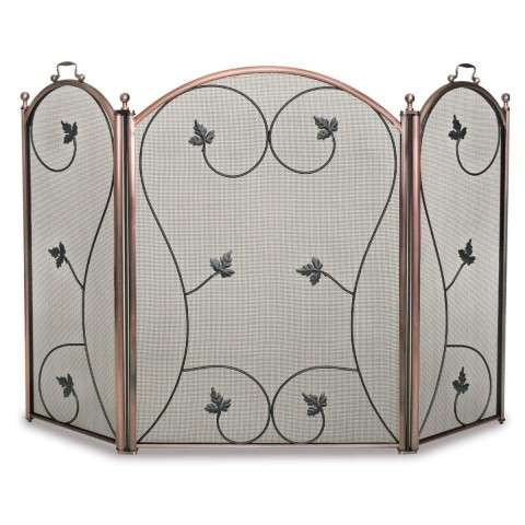 Napa Kentield 3 Panel Folding Screen - Antique Copper