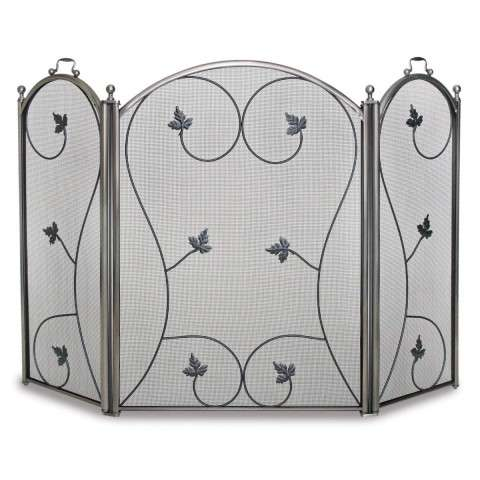 Napa Kentield 3 Panel Folding Screen - Pewter