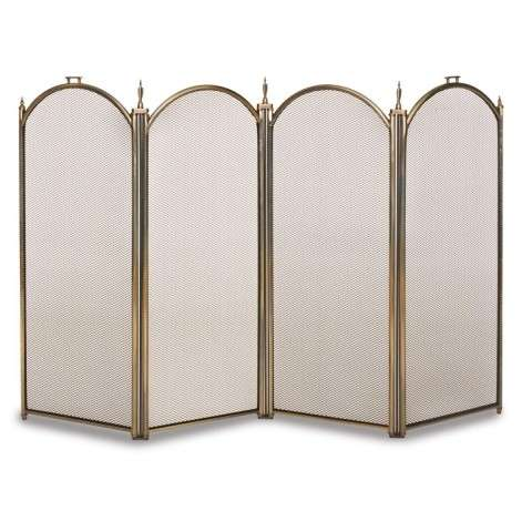 Napa Belvedere 4 Panel Folding Screen - Antique Brass