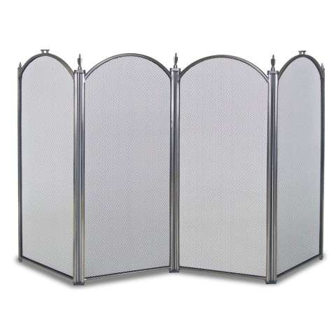 Napa Belvedere 4 Panel Folding Screen - Pewter