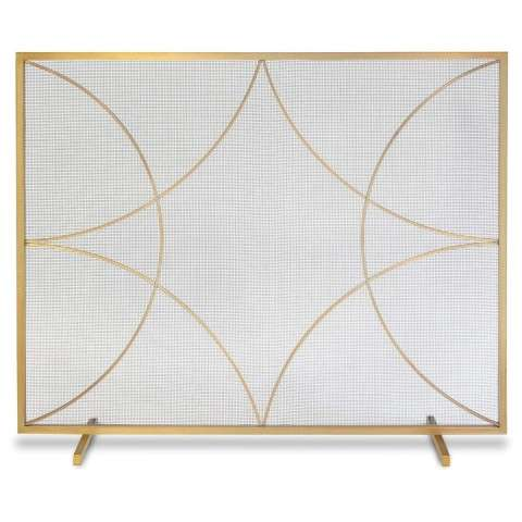 Napa Forged Diamond Single Panel Screen - Burnished Brass