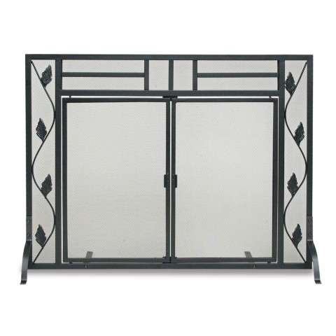 Napa Garden Leaf Operable Door Screen - Black