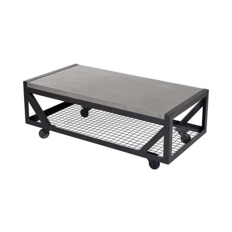 Mina Coffee Table In Polished Concrete And Anthracite