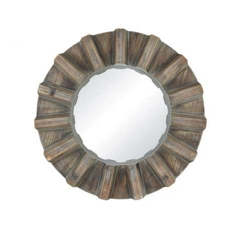 Via Salaria Wall Mirror In Burnt Grey