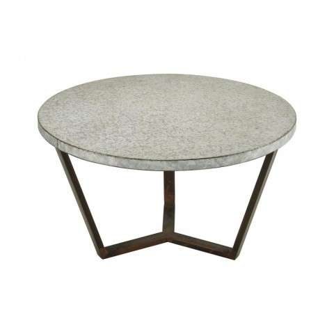 Mettle Side Table In Bronze With Galvanized Steel