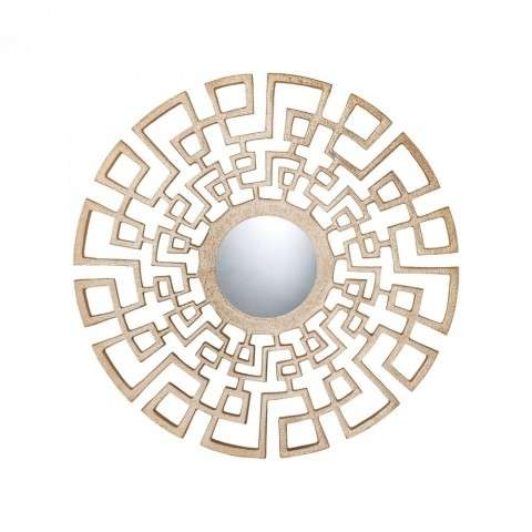 Ashkelon Wall Mirror in Gold