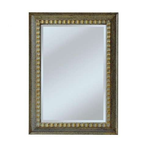 Carved Ripple Pattern Frame GIVes This Model A Casual Look In Beveled Mirror