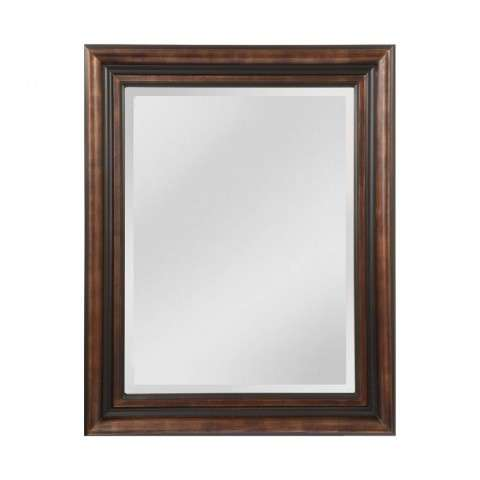 Crown Molding Pattern Wood Frame Mirror In Black