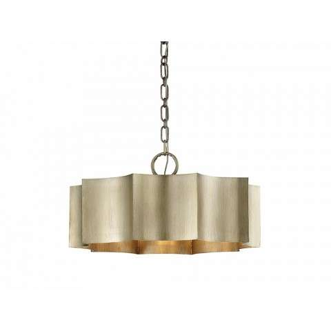Shelby 3 Light Pendant In Silver Patina