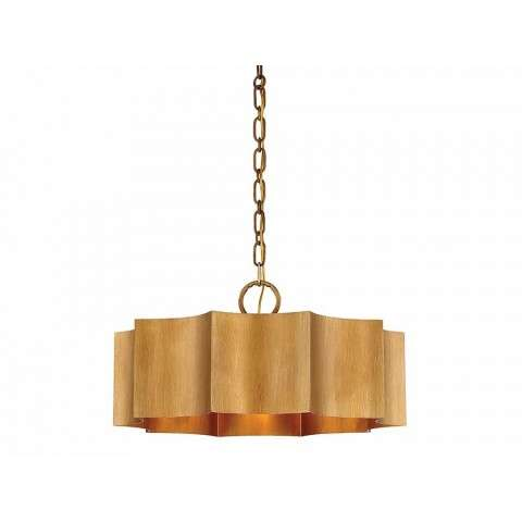 Shelby 3 Light Pendant In Gold Patina
