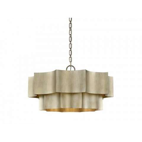 Shelby 6 Light Pendant In Silver Patina