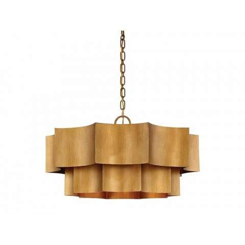 Shelby 6 Light Pendant In Gold Patina