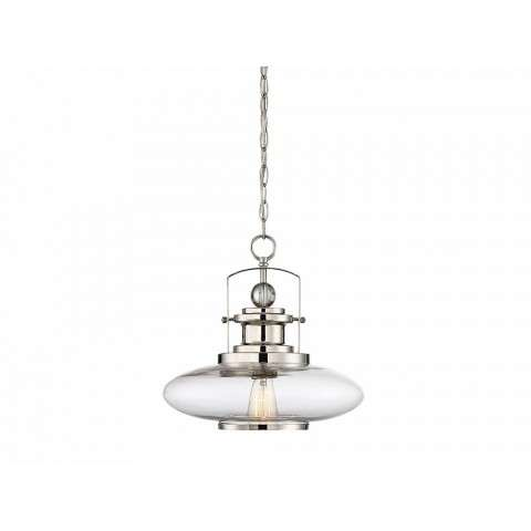 Mayfield 1 Light Pendant In Polished Nickel