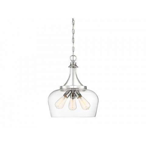 Octave 3 Light Pendant In Polished Chrome