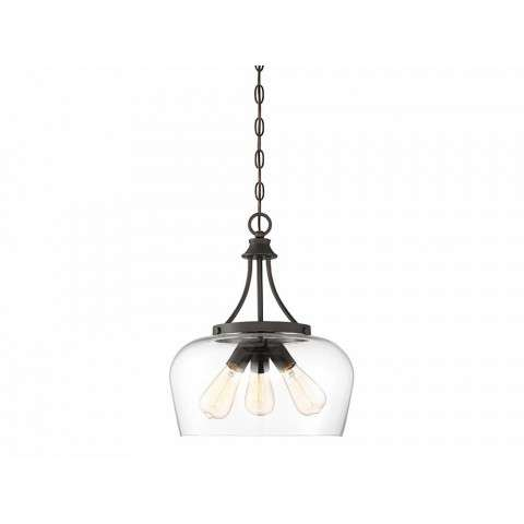 Octave 3 Light Pendant In English Bronze