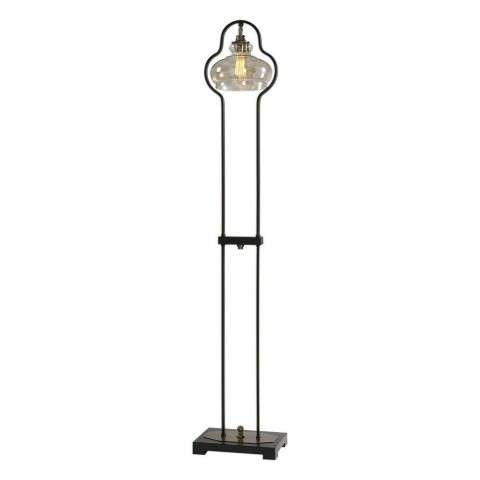 Cotulla Amber Glass Floor Lamp