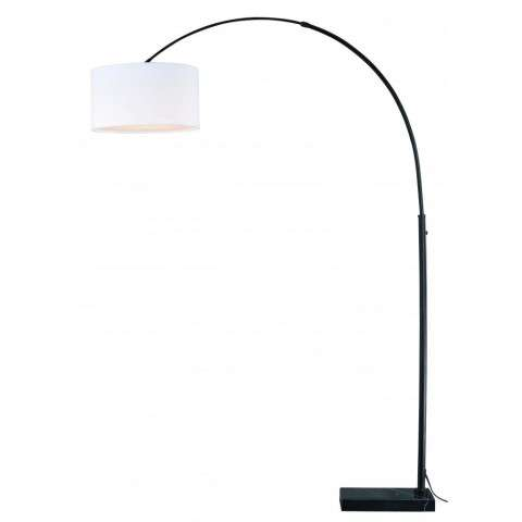 Luna Instalux LED Arc Lamp Oil Rubbed Bronze with Cream Linen Shade