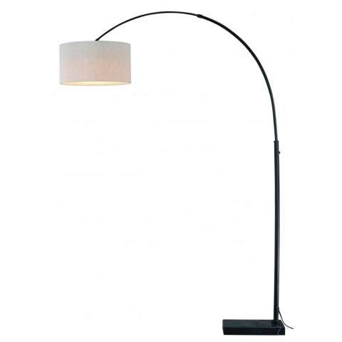 Luna Instalux LED Arc Lamp Oil Rubbed Bronze with Brown Linen Shade