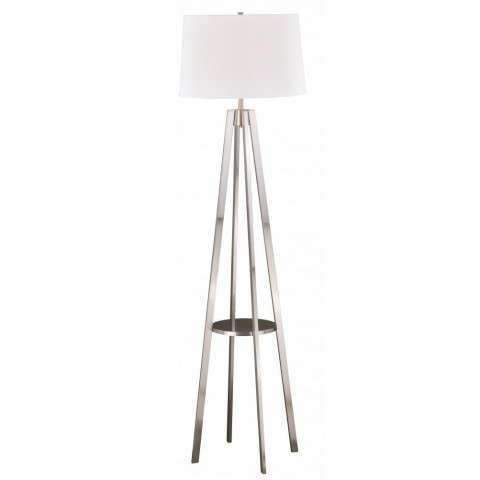 Perkins Floor Lamp Satin Nickel