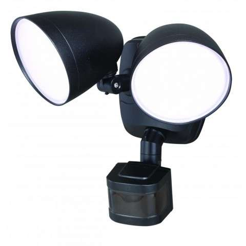 Tau Dualux 3000K LED Security Light - Black