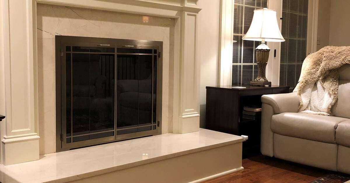 Carolina WIndow Pane Fireplace Door