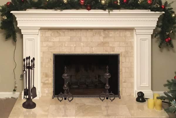 Custom Solid Brass Fireplace Accessories