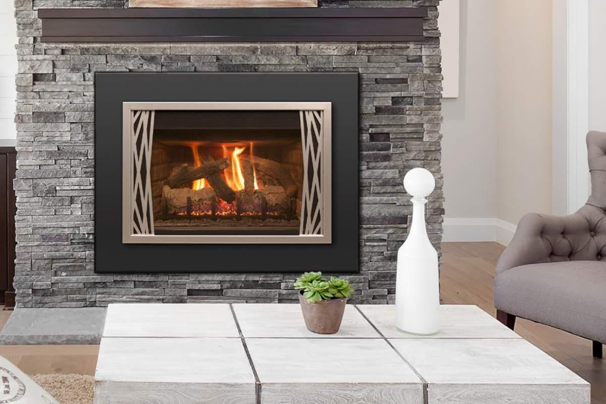 R. H. Peterson Real Fyre direct vent gas fireplace